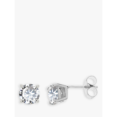 Nina B 9ct White Gold Cubic Zirconia Stud Earrings