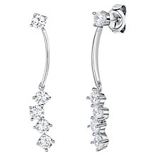 Buy Jools by Jenny Brown Rhodium Plated Silver Cubic Zirconia Long Drop Earrings Online at johnlewis.com