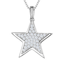 Buy Jools by Jenny Brown Rhodium Plated Silver Cubic Zirconia Stars Pendant Online at johnlewis.com