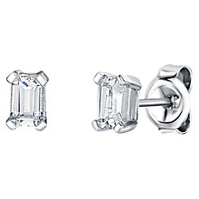 Buy Jools by Jenny Brown Rhodium Plated Silver Cubic Zirconia Emerald Cut Drop Earrings Online at johnlewis.com