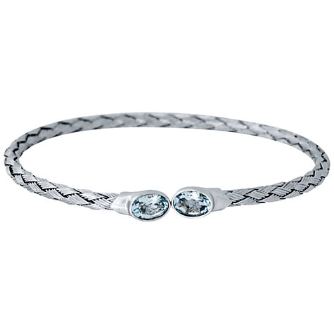 Buy Jools by Jenny Brown Rhodium Plated Silver Blue Topaz Bangle Online at johnlewis.com