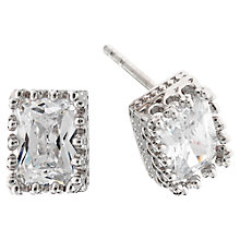 Buy Jou Jou Cubic Zirconia Sterling Silver Baguette Cut Earrings Online at johnlewis.com