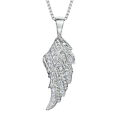 Buy Jools by Jenny Brown Rhodium Plated Silver Cubic Zirconia Wing Pendant Necklace Online at johnlewis.com