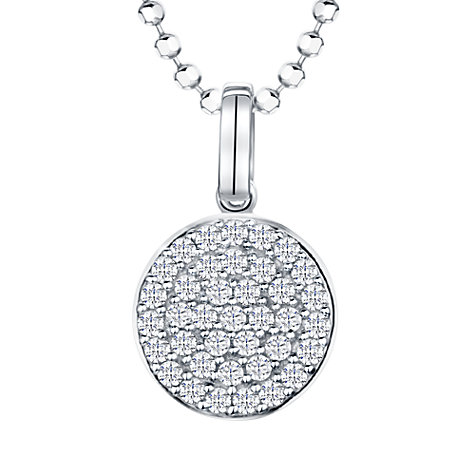 Buy Jools by Jenny Brown Rhodium Plated Silver Cubic Zirconia Round Pendant Online at johnlewis.com
