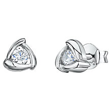 Buy Jools by Jenny Brown Cubic Zirconia Triangular Stud Earrings Online at johnlewis.com