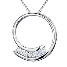 Buy Jools by Jenny Brown Silver Swirl Cubic Zirconia Pendant Necklace, Silver Online at johnlewis.com