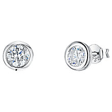 Buy Jools by Jenny Brown Round Cubic Zirconia Pod Stud Earrings Online at johnlewis.com