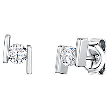 Buy Jools by Jenny Brown Offset Side Bar Cubic Zirconia Stud Earrings Online at johnlewis.com