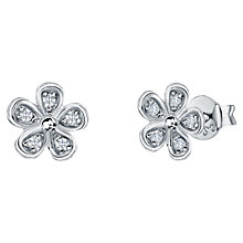 Buy Jools by Jenny Brown Five Petal Pavé Stud Earrings Online at johnlewis.com