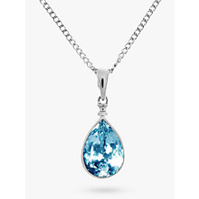 Buy Nina B 9ct White Gold Topaz Teardrop Pendant Online at johnlewis.com