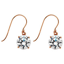 Buy Jou Jou Rose Gold Plated Sterling Silver Cubic Zirconia Hook Earrings Online at johnlewis.com