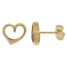 Buy Nina B 9ct Gold Heart Stud Earrings Online at johnlewis.com