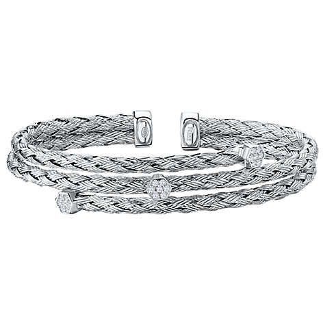 Buy Jools by Jenny Brown 3 Row Plaited Cubic Zirconia Bangle Online at johnlewis.com