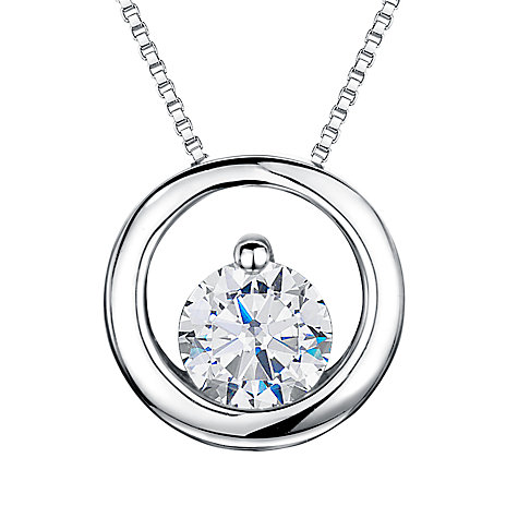 Buy Jools by Jenny Brown Rhodium Plated Silver Cubic Zirconia Circle Pendant Online at johnlewis.com