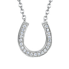 Buy Jools by Jenny Brown Rhodium Plated Silver Cubic Zirconia Horseshoe Pendant Online at johnlewis.com