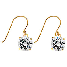Buy Jou Jou Gold Plated Sterling Silver Cubic Zirconia Drop Earrings Online at johnlewis.com