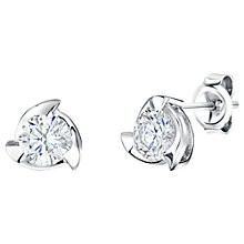 Buy Jools by Jenny Brown 3 Fan Shape Frame Cubic Zirconia Stud Earrings Online at johnlewis.com