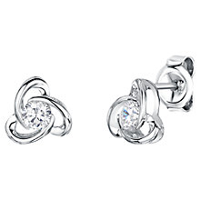 Buy Jools by Jenny Brown Rhodium Plated Silver Cubic Zirconia Flower Drop Earrings Online at johnlewis.com