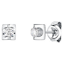 Buy Jools by Jenny Brown Rhodium Plated Cubic Zirconia Stud Earrings Online at johnlewis.com