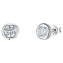 Buy Jools by Jenny Brown Cubic Zirconia Small Round Pod Stud Earrings Online at johnlewis.com