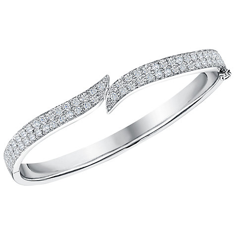 Buy Jools by Jenny Brown Cubic Zirconia Pavé Meeting Ends Bangle Online at johnlewis.com