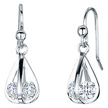 Buy Jools by Jenny Brown Rhodium Plated Silver Cubic Zirconia Four Sided Drop Earrings Online at johnlewis.com