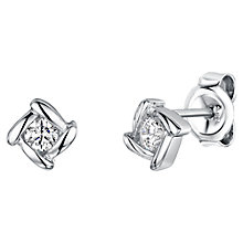Buy Jools by Jenny Brown Overlaping Square Cubic Zirconia Stud Earrings Online at johnlewis.com