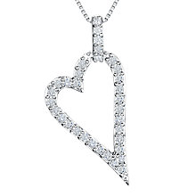 Buy Jools by Jenny Brown Freshwater Pearl And Cubic Zirconia Outline Heart Pendant Online at johnlewis.com