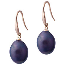 Buy Kojis 18ct Gold Freshwater Pearl Fish-Hook Earrings Online at johnlewis.com