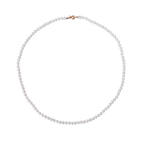 Buy Kojis 18ct Gold 8mm Freshwater Pearl Necklace, White Online at johnlewis.com