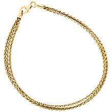 Buy 9ct Yellow Gold Three Plait Bracelet Online at johnlewis.com