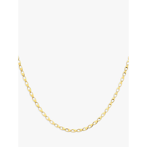 Buy 9ct Yellow Gold Oval Link Necklace Online at johnlewis.com