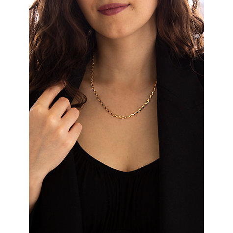 Buy John Lewis 9ct Yellow Gold Oval Link Necklace, Gold Online at johnlewis.com