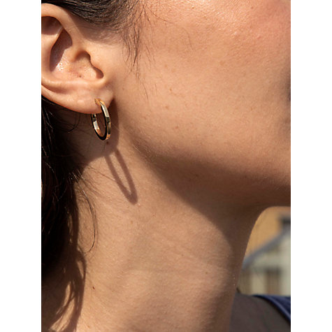 Buy 9ct Yellow Gold Creole Hoop Medium Earrings Online at johnlewis.com