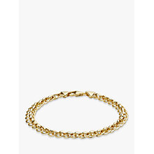 Buy IBB 9ct Yellow Gold Rollerball Bracelet, Gold Online at johnlewis.com