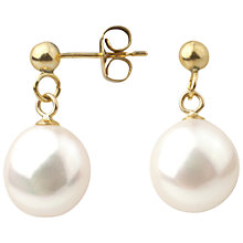 Buy A B Davis 9ct Gold Baroque Freshwater Pearl Drop Earrings Online at johnlewis.com