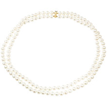 Buy A B Davis 9ct Gold Two Row Freshwater Pearl Necklace Online at johnlewis.com