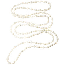 Buy A B Davis Endless Freshwater Pearl Necklace, White Online at johnlewis.com