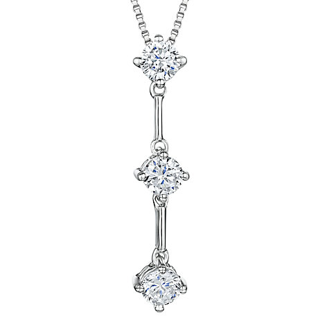 Buy Jools by Jenny Brown Sterling Silver Triple Bar Drop Cubic Zirconia Pendant Online at johnlewis.com
