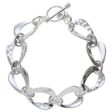 Buy Andea Sterling Silver Smooth And Textured Triangle Bracelet Online at johnlewis.com