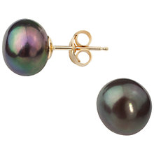 Buy A B Davis 9ct Gold Baroque Pearl Stud Earrings Online at johnlewis.com