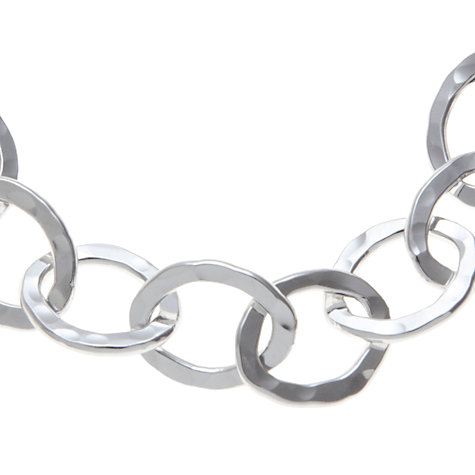 Buy Andea Sterling Silver Oval Textured Bracelet Online at johnlewis.com