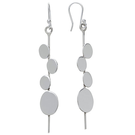 Buy Andea Sterling Silver Art Deco Disc Earrings Online at johnlewis.com