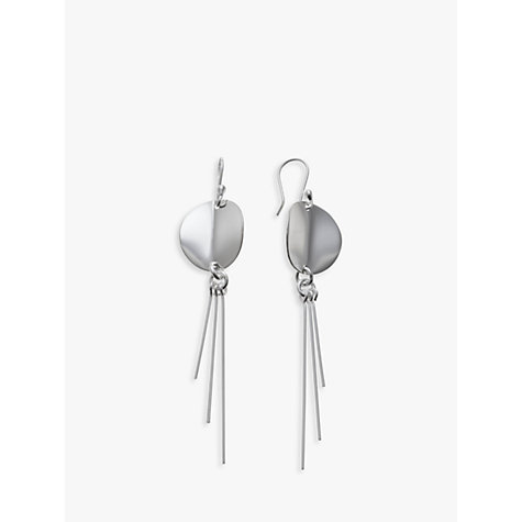 Buy Andea Sterling Silver Round Disc Three Rod Earrings Online at johnlewis.com