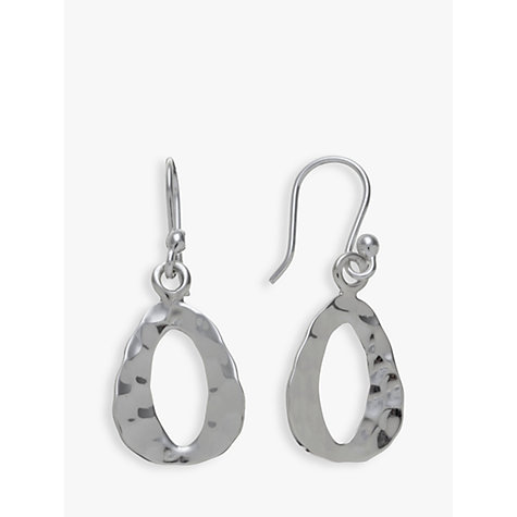 Buy Andea Sterling Silver Textured Triangle Drop Earrings Online at johnlewis.com