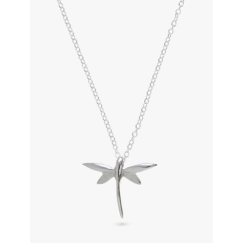 Buy Andea Sterling Silver Dragonfly Pendant Necklace Online at johnlewis.com