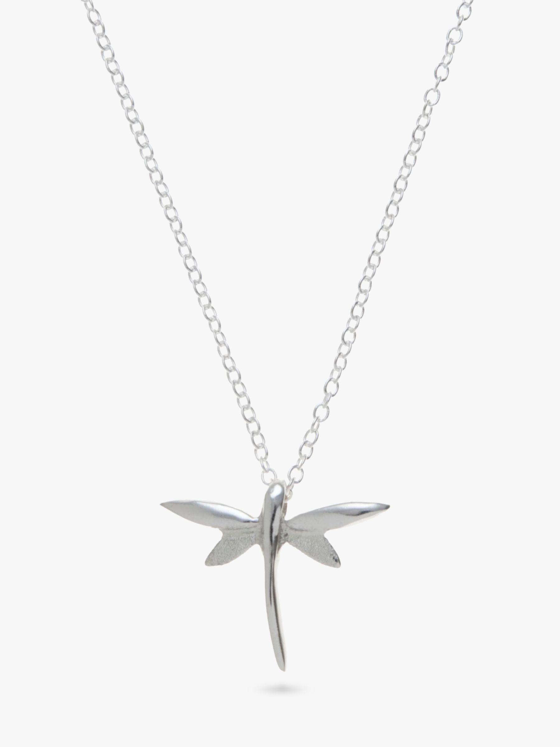 Andea Andea Sterling Silver Dragonfly Pendant Necklace