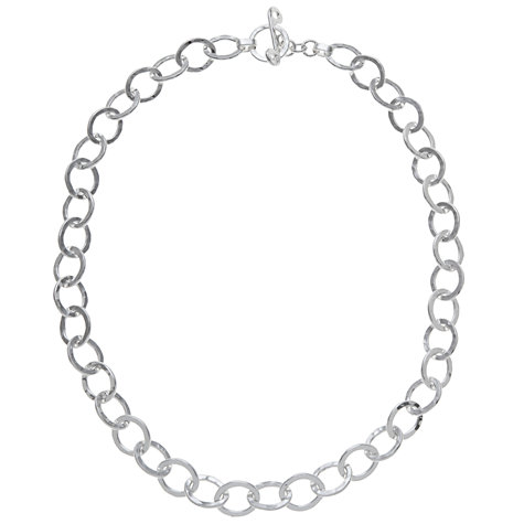 Buy Andea Sterling Silver Oval Links Necklace Online at johnlewis.com
