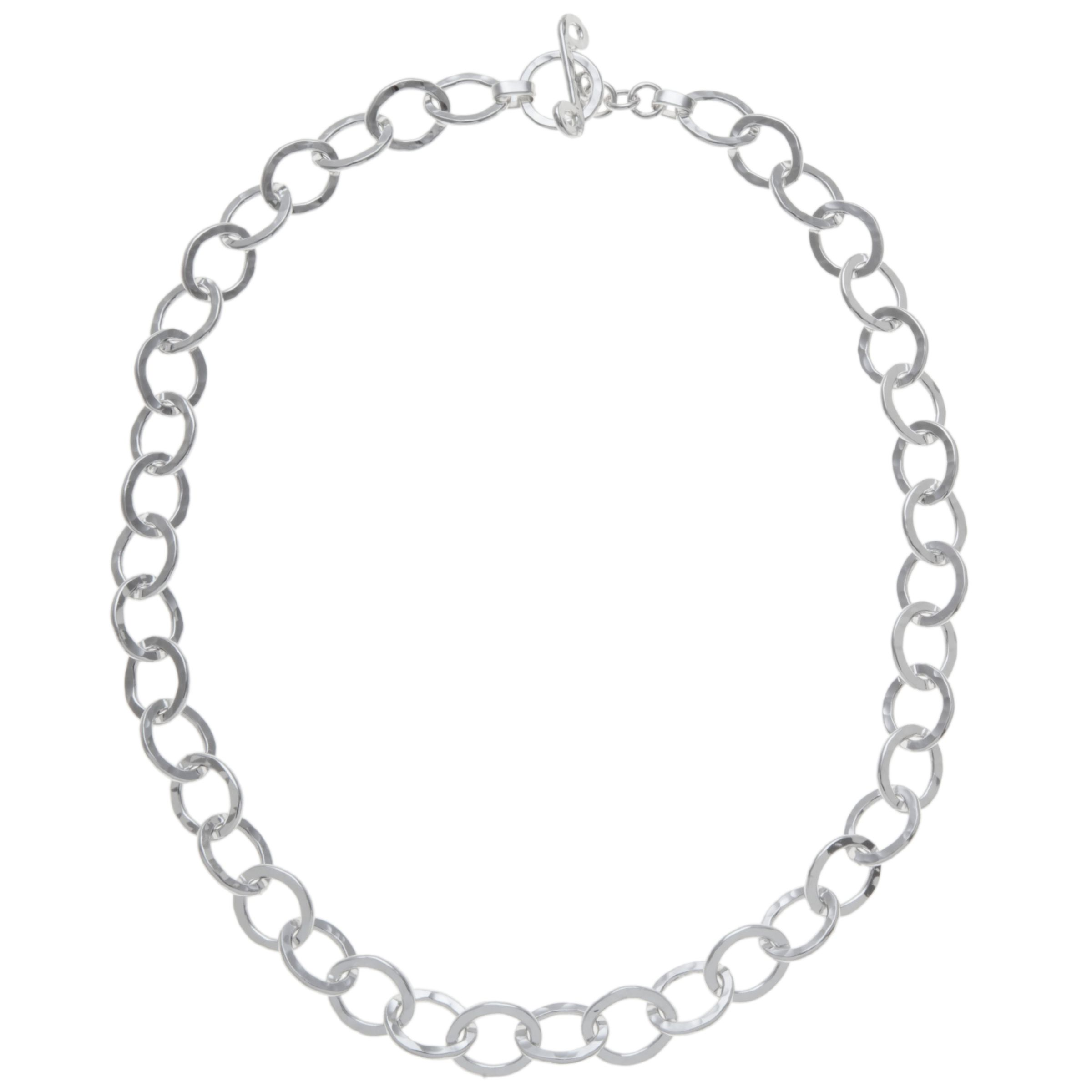 Andea Andea Sterling Silver Oval Links Necklace