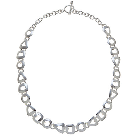 Buy Andea Sterling Silver Assorted Cut Out Necklace Online at johnlewis.com
